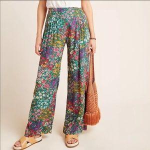 Maeve Flower Wide-leg Pants